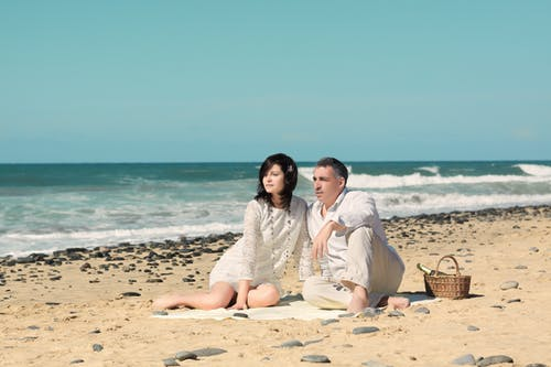 Free stock photo of adult, affectionate, beach, beautiful