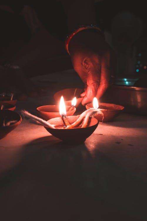 光, 屠妖節快樂, 排燈節, 歡樂的 的 免費圖庫相片