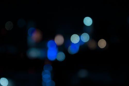 圈圈, 晚上, 模糊背景, 燈光 的 免費圖庫相片