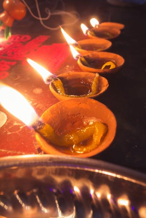 排燈節, 歡樂的, 蠟燭 的 免費圖庫相片