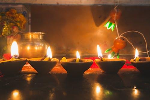 屠妖節快樂, 排燈節, 蠟燭, 迪亞 的 免費圖庫相片
