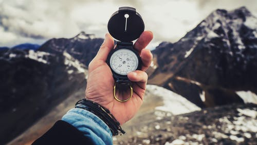 Free stock photo of adventure, backpack, climb, compass