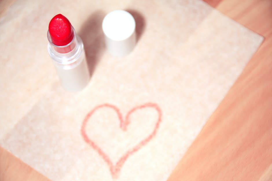 beauty, heart, lipstick