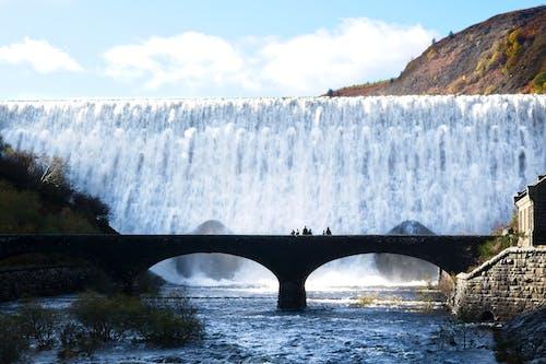 Бесплатное стоковое фото с водопад, водохранилище, мост