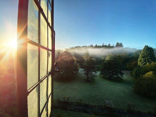 Бесплатное стоковое фото с вид, восход, окно, пейзаж