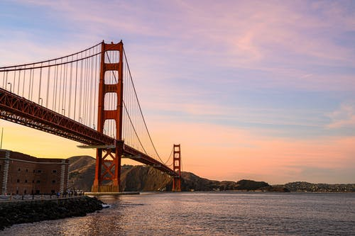 Golden Gate Bridge in San Francisco during Golden Hour