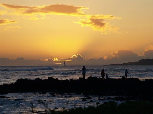 Imagine de stoc gratuită din apus, barcă, frumos apus, plaja de soare