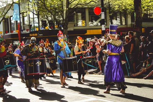 Free stock photo of band, carnival, celebration, costume