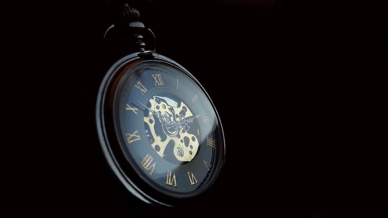 analog klocka, antik, datailaufnahme