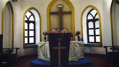内部教堂, 十字架, 基督教, 壇 的 免费素材照片