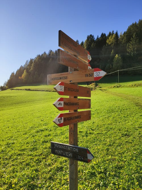 Photo of Wooden Directional Sign