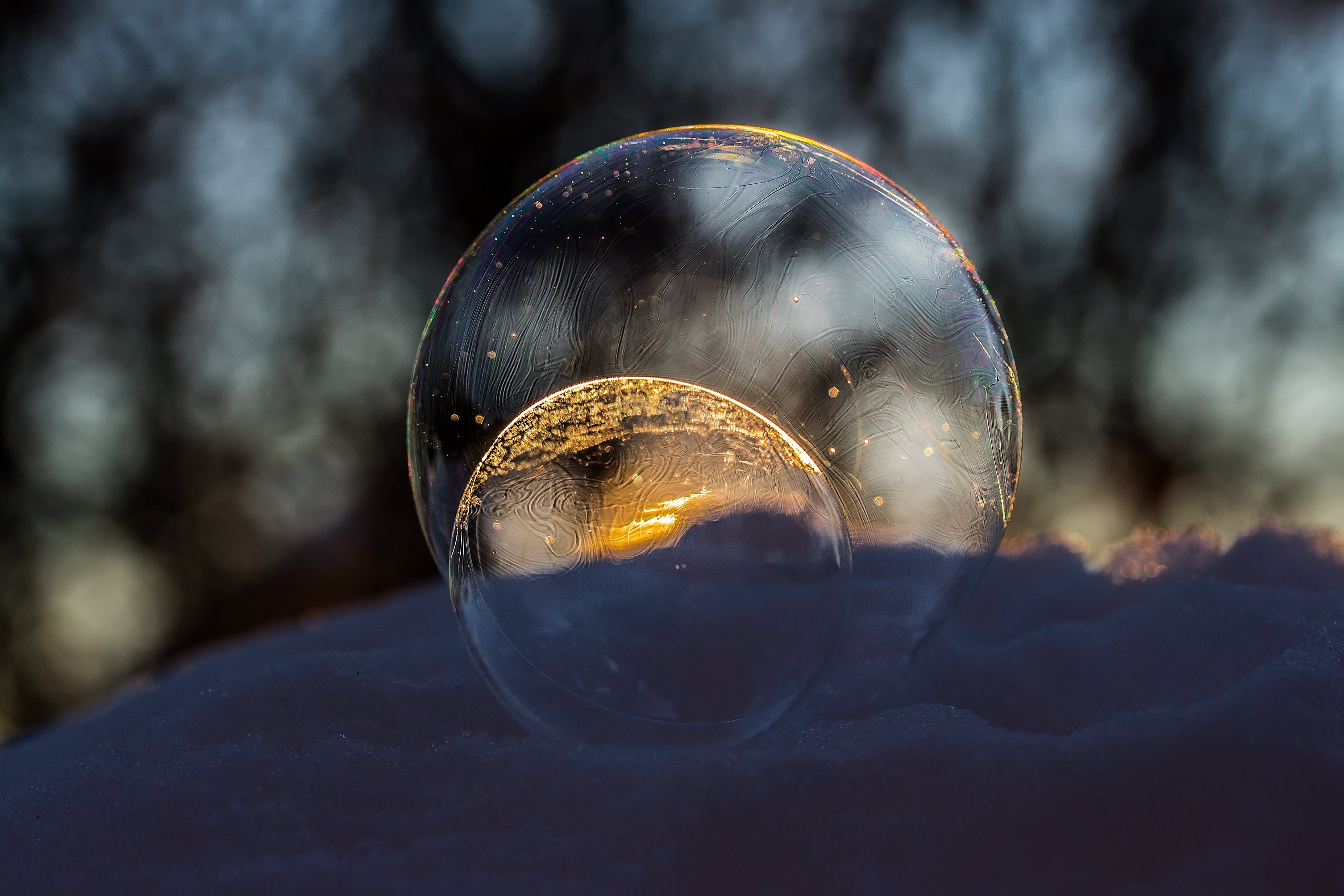 Close-up of Crystal Ball Against Blurred Background
