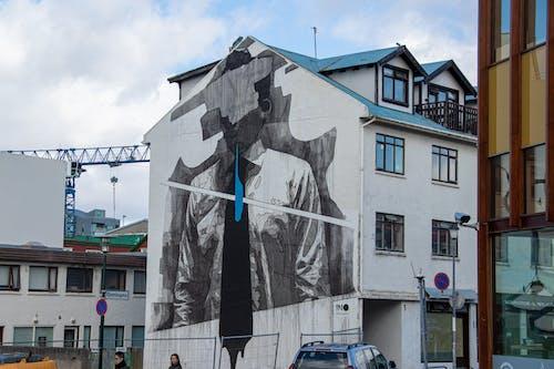 Ingyenes stockfotó épület, falfirka, graffiti, Izland témában