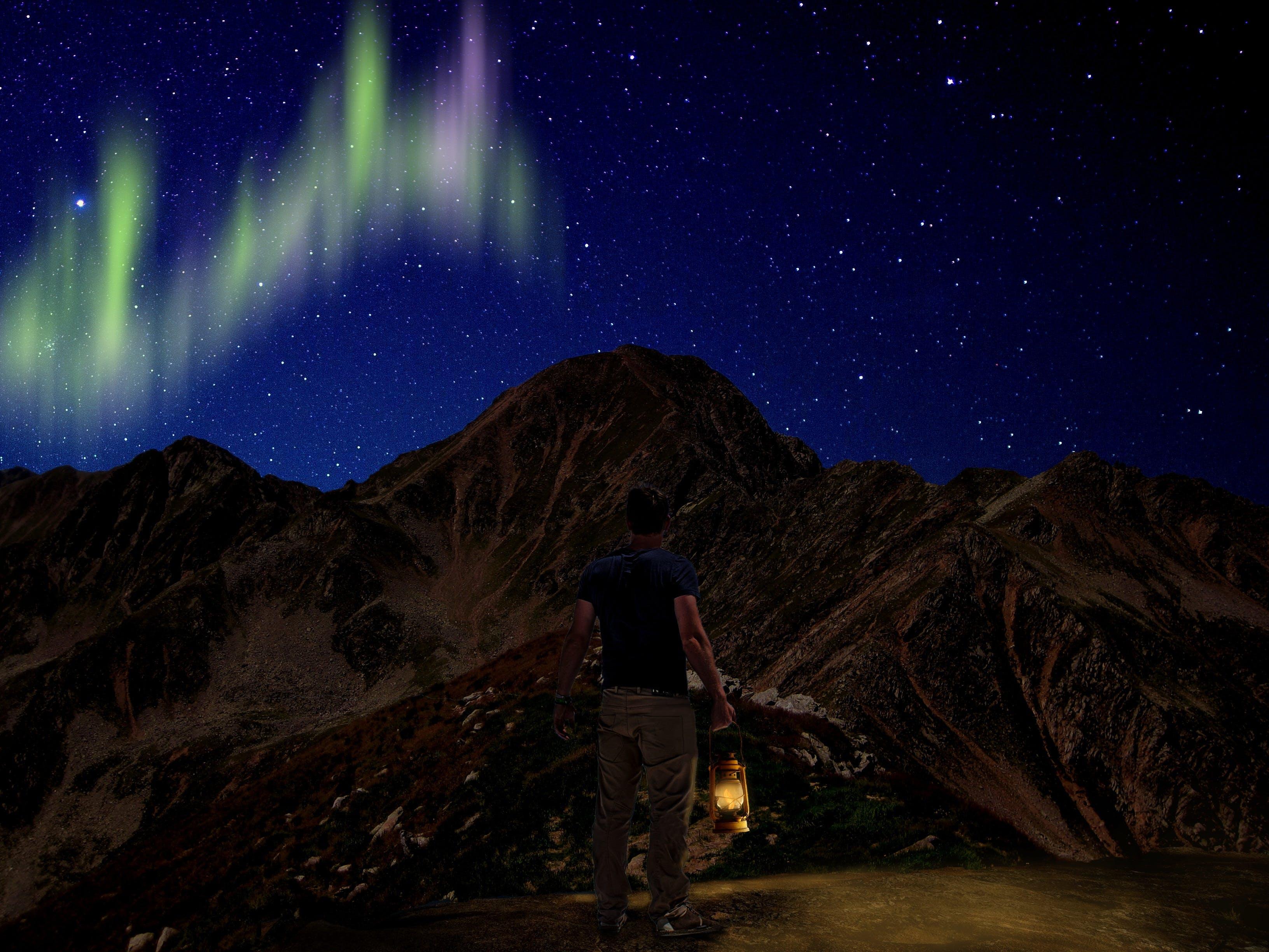 Free stock photo of landscape, sky, night, mountain