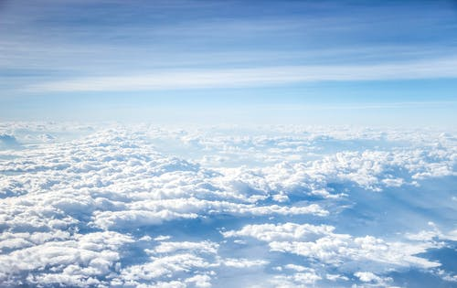 Foto d'estoc gratuïta de alt, ambient, blanc, blau