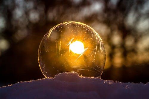Foto d'estoc gratuïta de art, bola, bombolla de sabó, brillant