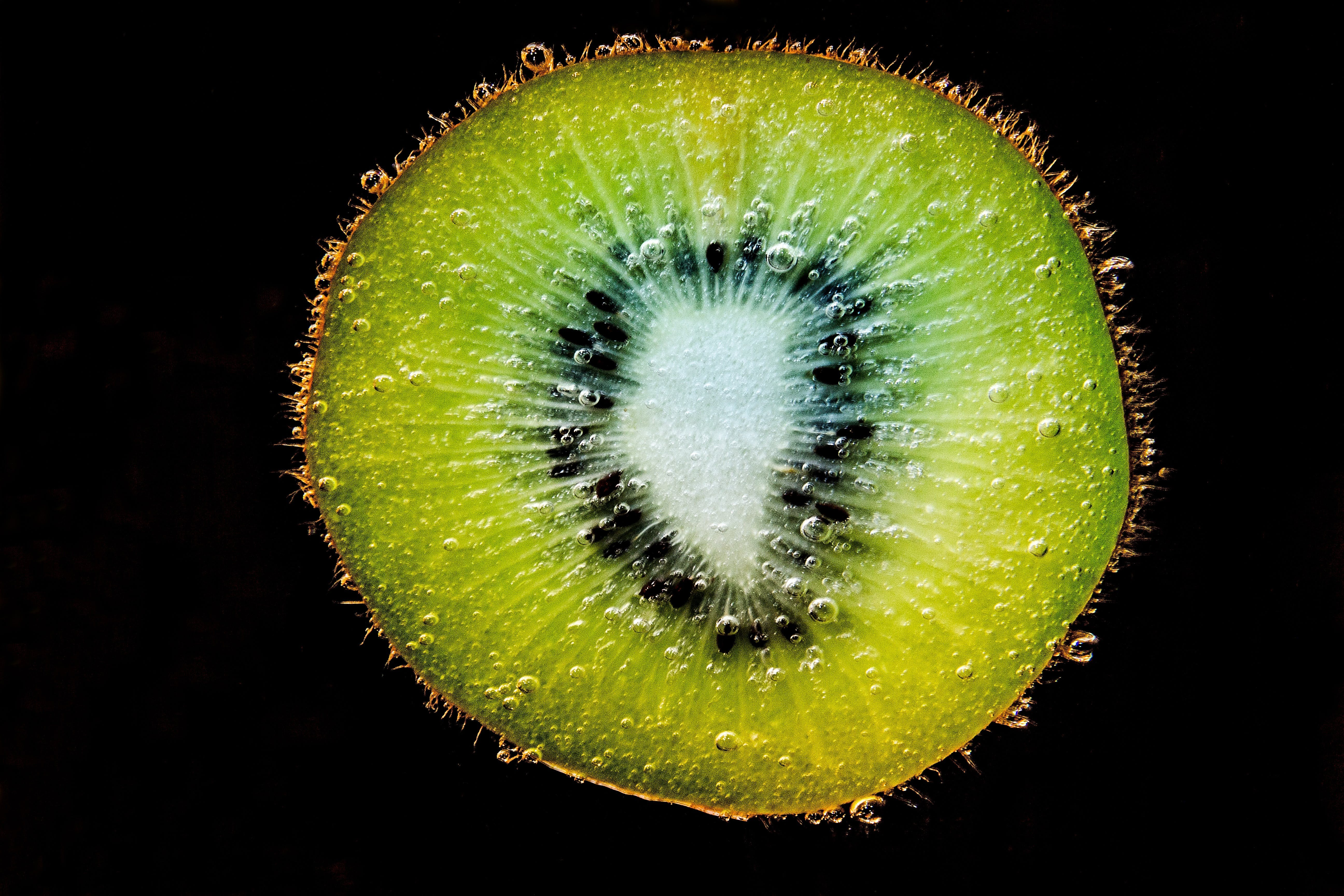 Close-up of Fruit Against Black Background