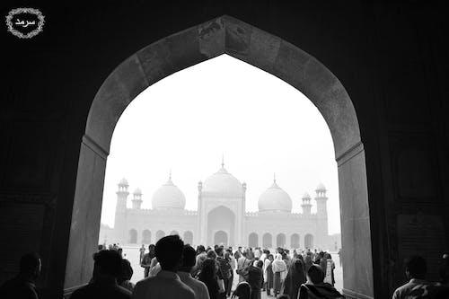 Immagine gratuita di bianco e nero, cornice, moschea, pace
