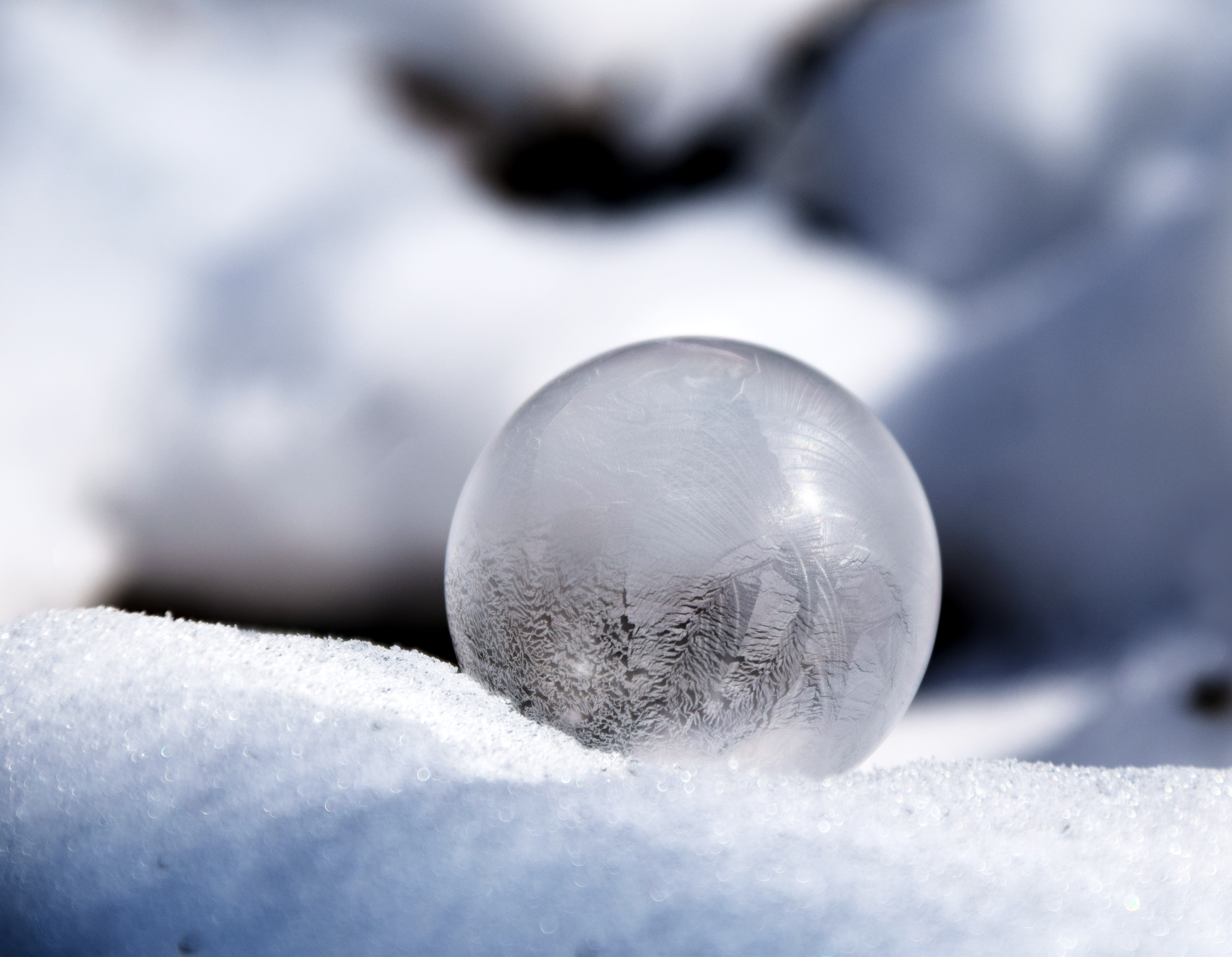 Clear Glass Sphere · Free Stock Photo
