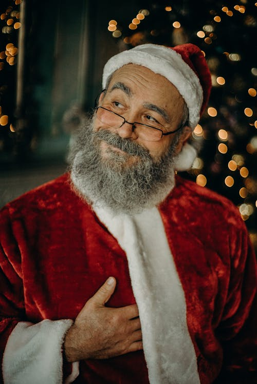 Man Wearing Santa Claus Costume