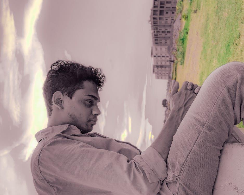 alone, boy, building