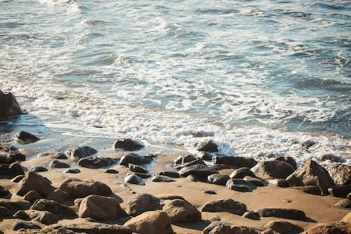 Základová fotografie zdarma na téma kameny, oceán, písek, pobřeží