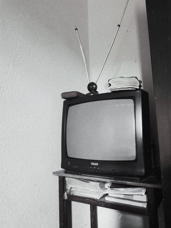 Gray scale Photo analogue of Television
