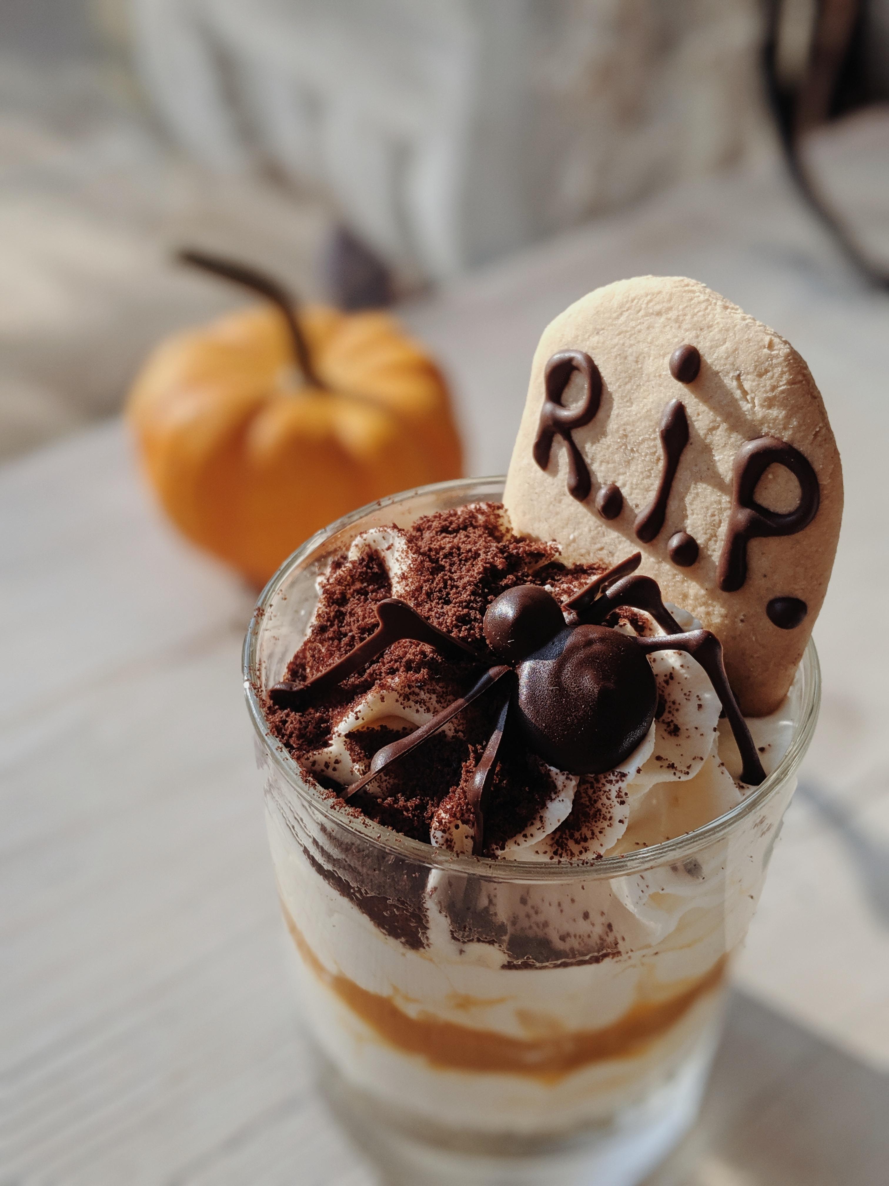 Halloween Theme Cup of Ice Cream