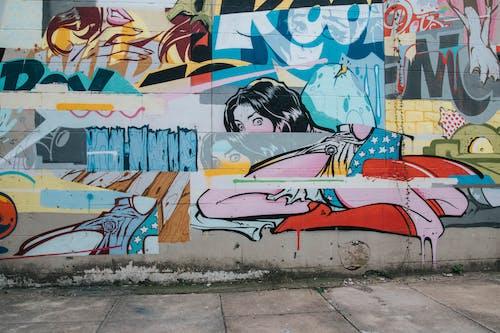人為破壞, 塗鴉, 牆壁, 牆藝術 的 免費圖庫相片