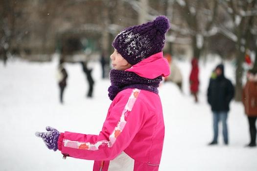 Free stock photo of snow, street, friends, girl