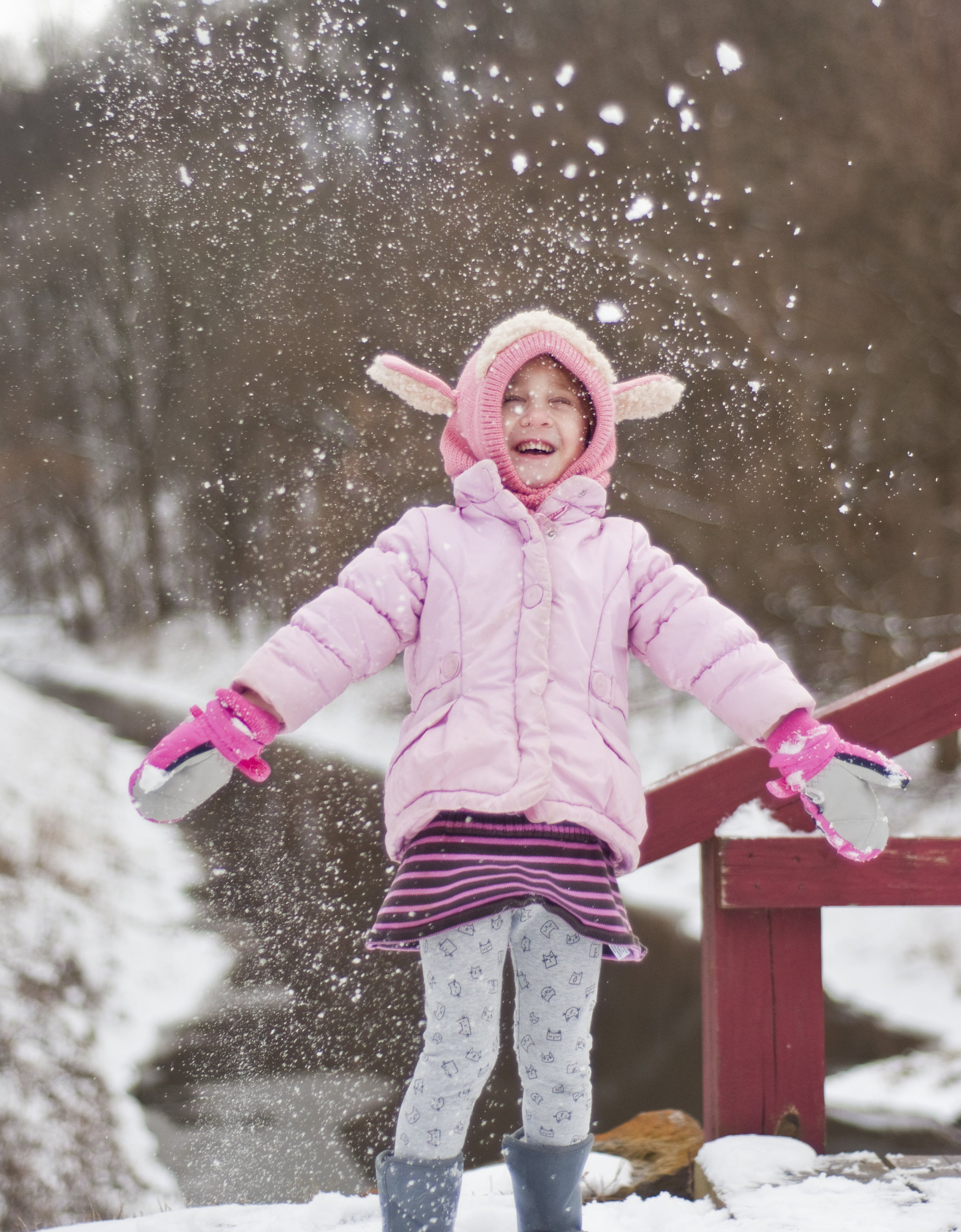 Free stock photo of cold, snow, girl, winter