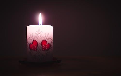 Základová fotografie zdarma na téma den sv. Valentýna, hoření, lehký, osvětlený