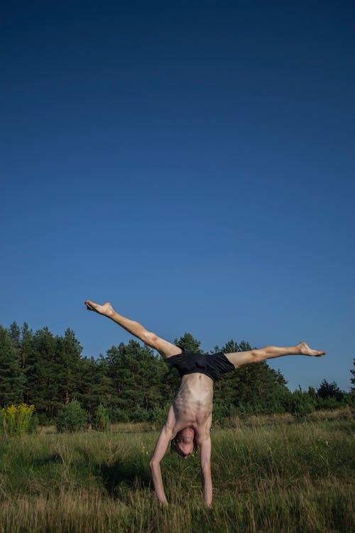 Безкоштовне стокове фото на тему «баланс, дерева, людина, небо»