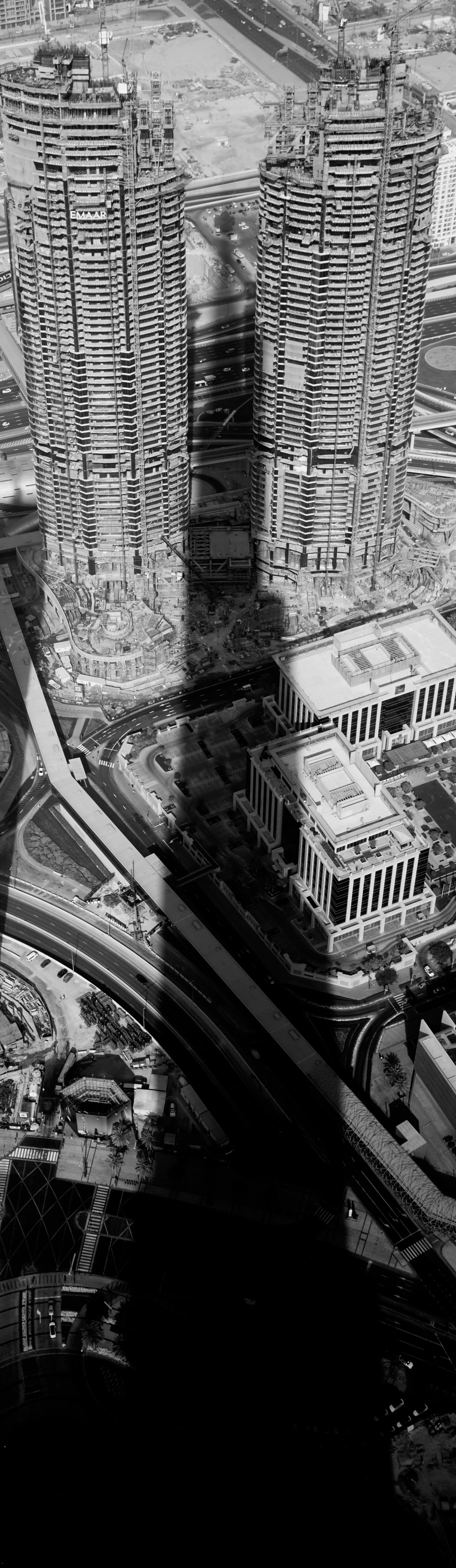 Free stock photo of burj khalifa as shadow