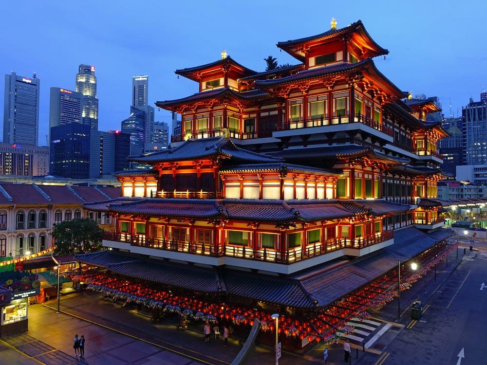architektura, atrakcja turystyczna, azja