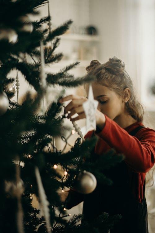 Foto stok gratis cewek, dekorasi, dekorasi Natal, hari Natal