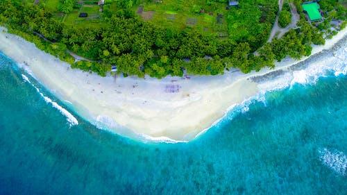 Gratis stockfoto met bird's eye view, eiland, indische oceaan, kust