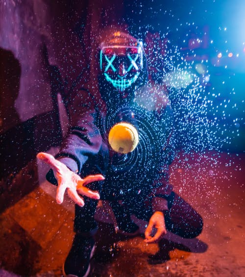 Ingyenes stockfotó halloween, neon, neonfény, színes maszk témában