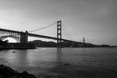 Бесплатное стоковое фото с архитектура, море, мост, мост золотые ворота