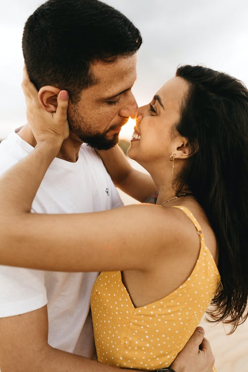 Photo of Couple About to Kiss