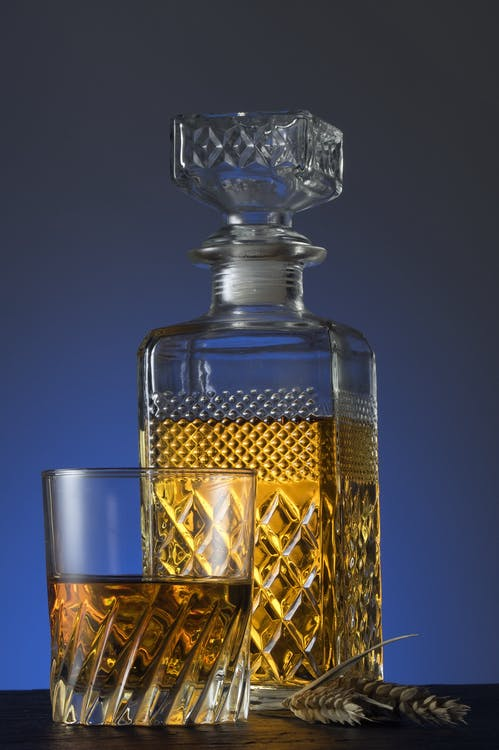 alcohol, close-up, container