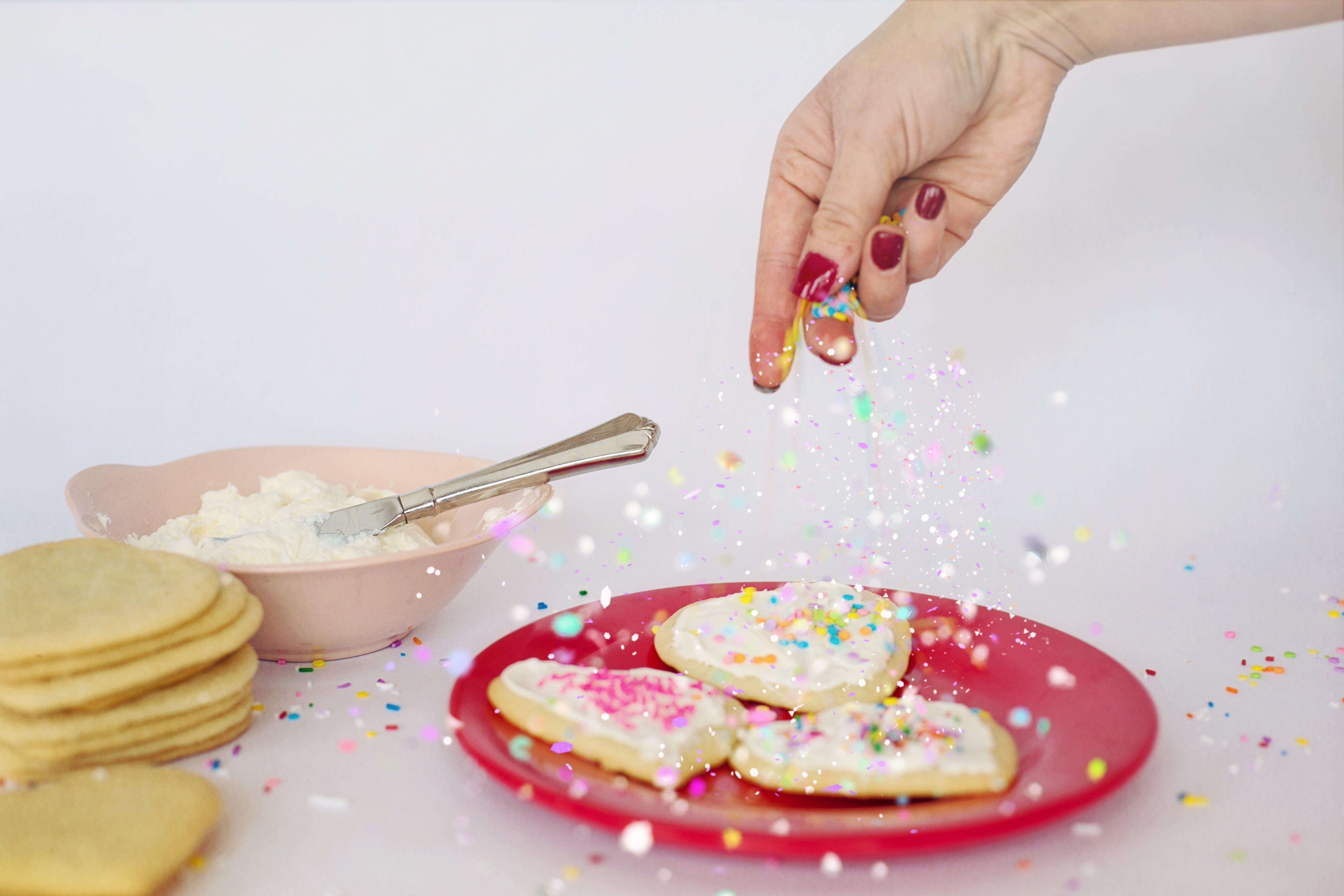 Free stock photo of food, valentine's day, bakery, dessert