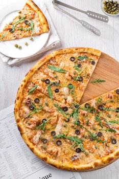 Kostenloses Stock Foto zu essen, italienisch, menü, pizza