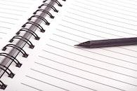 notebook, office, pen
