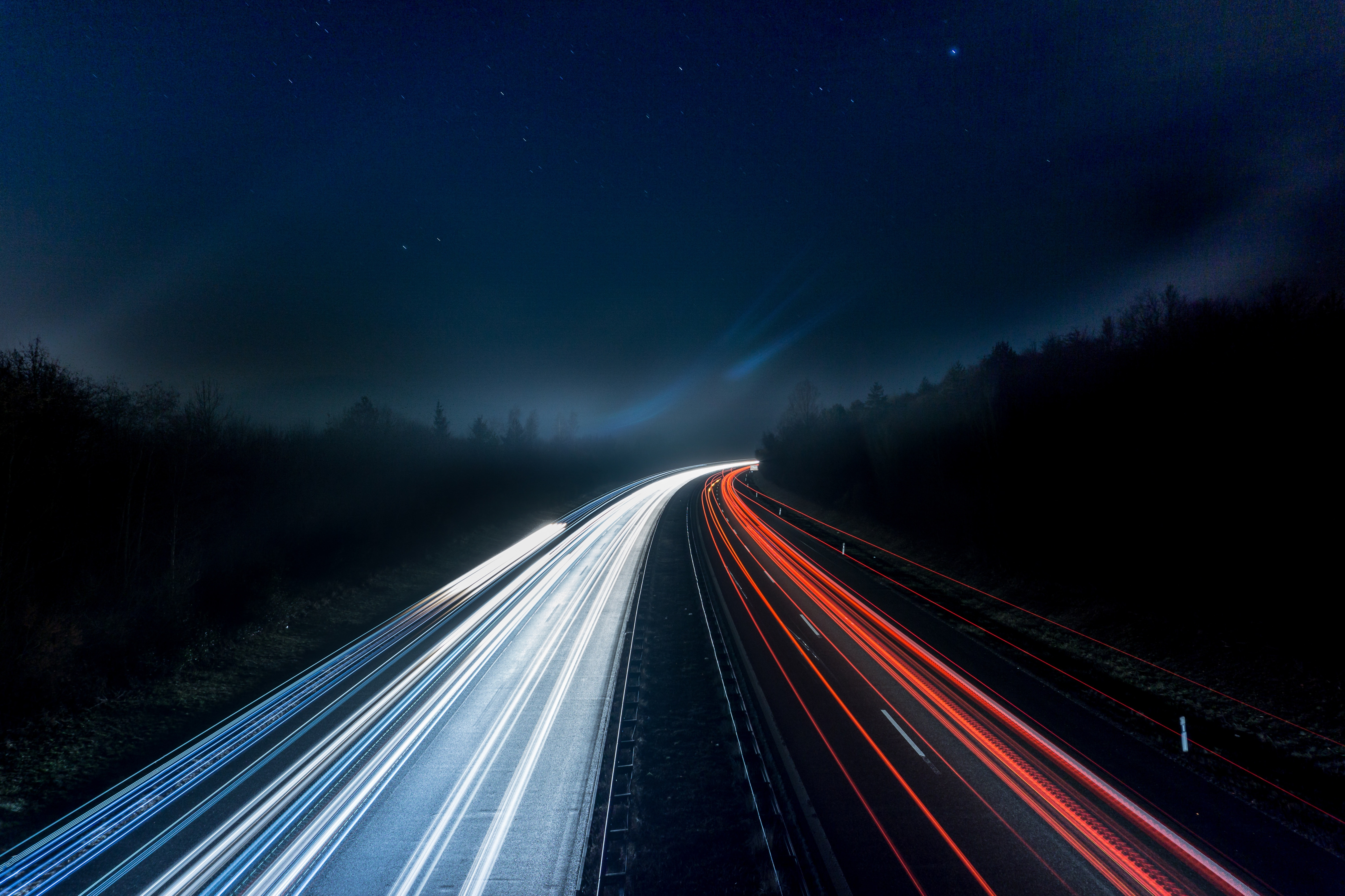 Donate Your Car >> Light Trails on Highway at Night · Free Stock Photo