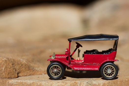 Free stock photo of red, small, automobile, toy car