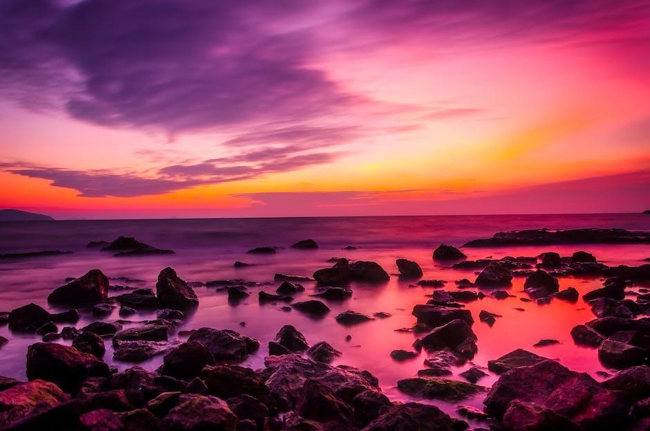 Beach beautiful boulders calm waters