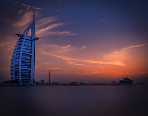 Бесплатное стоковое фото с архитектура, Архитектурное проектирование, безмятежный, бурдж-эль-араб