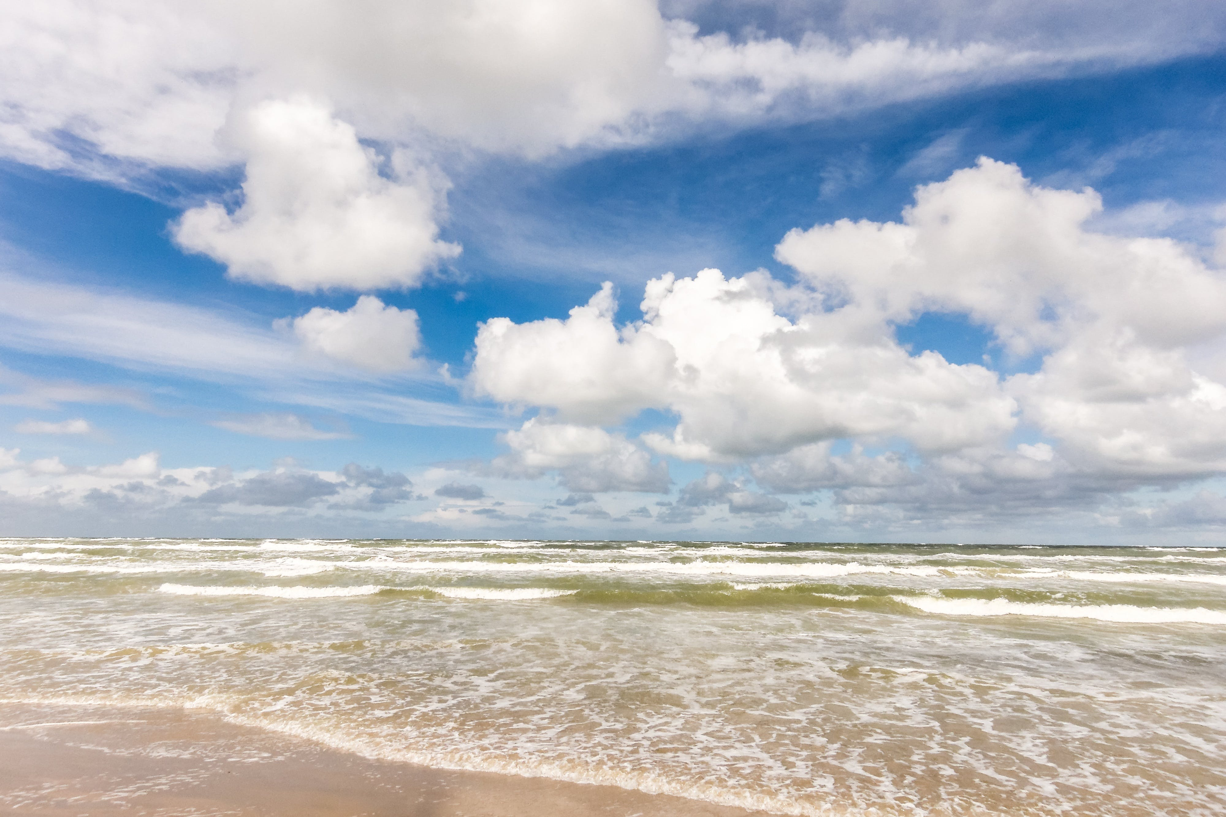 Free stock photo of sea, beach, clouds, by the sea