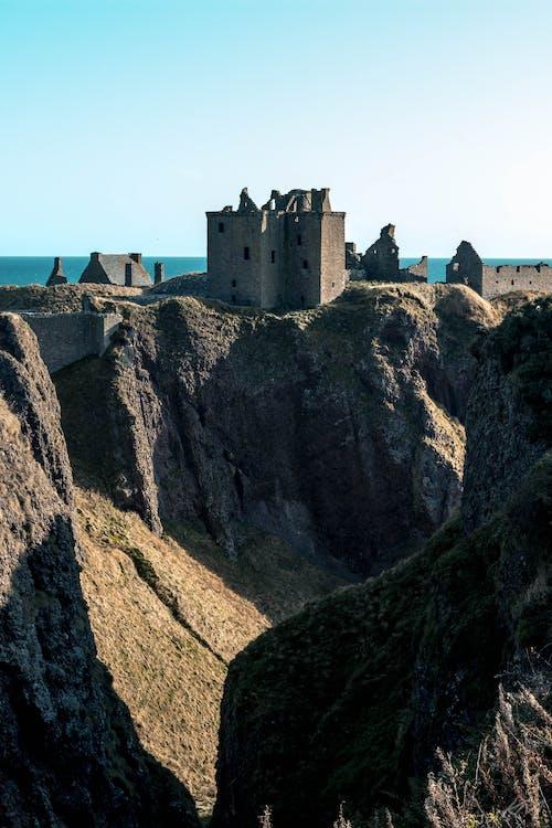 Gratis lagerfoto af borg, dunottar slot, gamle slot, hav